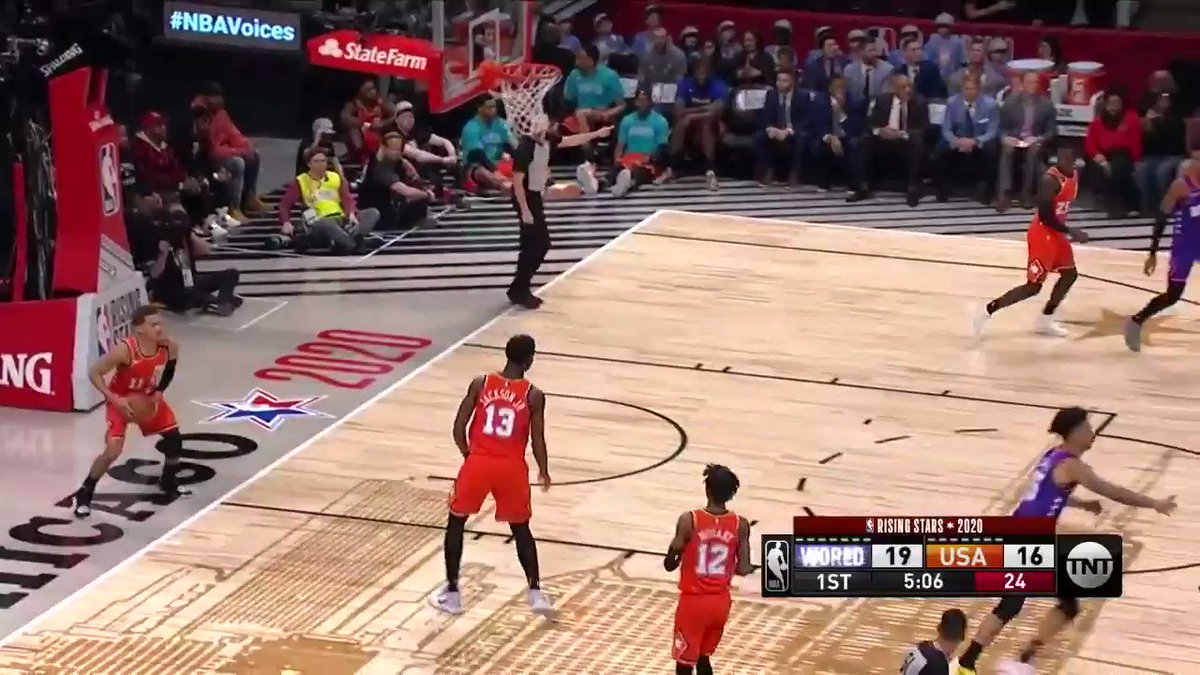 Here's every @JaMorant to @ZionWilliamson highlight (and one Zion to Ja) from the #RisingStars game  🔥🔥🔥🔥  #Pelicans #Grizzlies