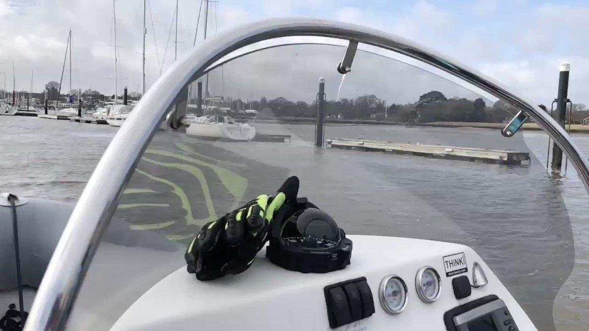 Storm Dennis? All gone today! Successful 2 students RYA Powerboat Level 2. Book your Course now  01489319003 @AboardBoatCoach @PCA_Charters @Icom_UK @ribcraft  @SuzukiOutboards @RYA @rya_training @RYASouth #PowerboatLevel2Course @UniversalMarina #RYA #Boat