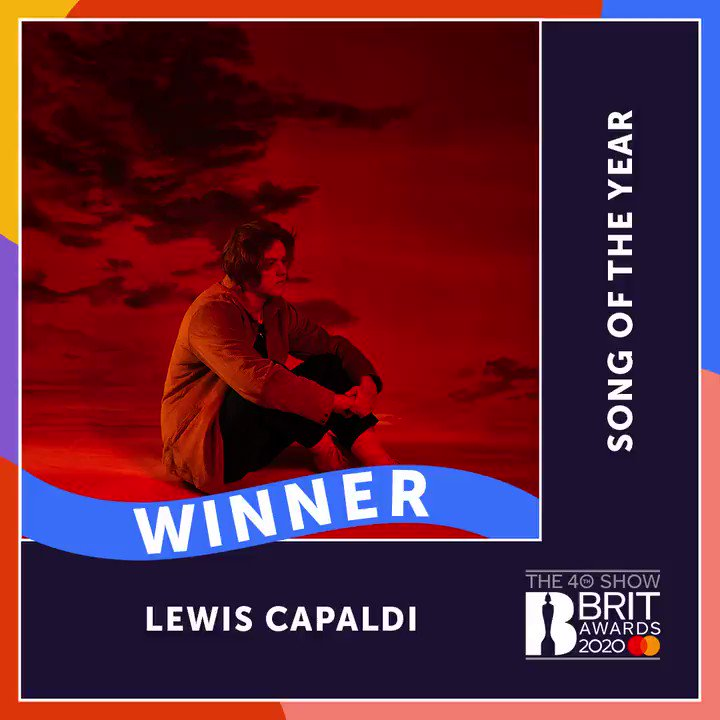 Yes @LewisCapaldi! Congrats on winning The #BRITs 2020 Song of the Year with 'Someone You Loved'! 🎶