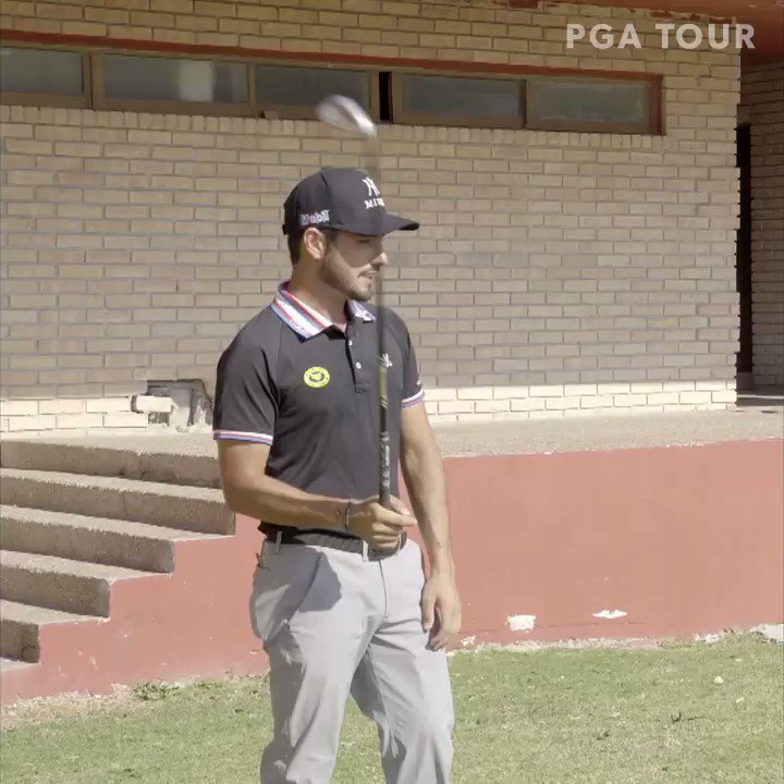 """@Abraham_Ancer """"You just had to pull it off."""" Where Abe would practice his chipping:"""