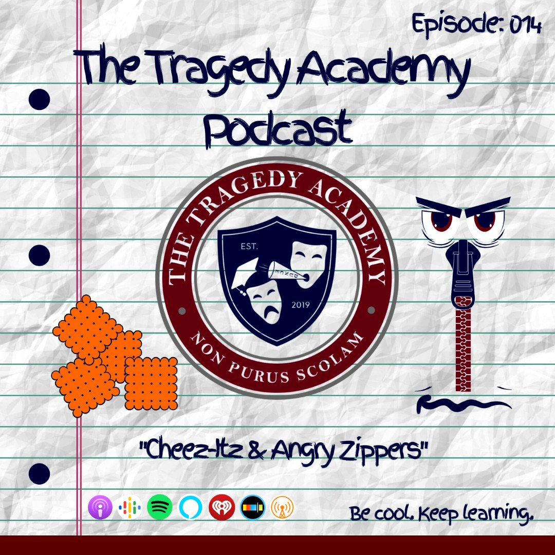 "New Episode! EP 014: ""Cheez-Itz & Angry Zippers"" Lines are one of the greatest killers in humanity 🎧  🌐   #thetragedyacademy #podernfamily #podcast #podcasts #memes #share #funny #happy #like4like #follow #crypto #smile #nofilter"