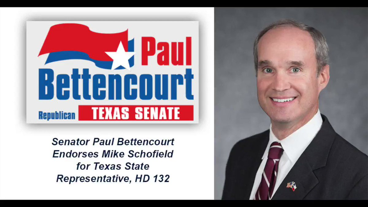 Image for the Tweet beginning: Proud to endorse @RepSchofield, my