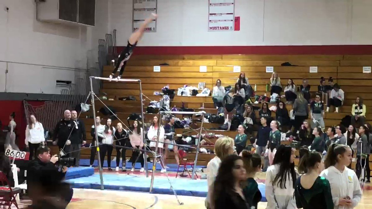Come check out Anna @Ihsastate gymnastics Friday Palatine HS 2pm.  STATE send-off Friday morning 8:30am LHS lobby🐯