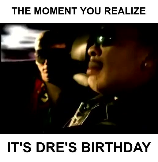 So everybody just follow me... and wish @drdre a happy birthday!