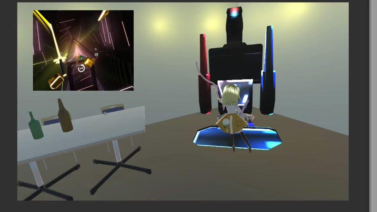 アーケードゲームを人前でプレイするの恥ずかしいから自宅に置きたい #VMC #EVMC4U #BeatSaber #OculusLink