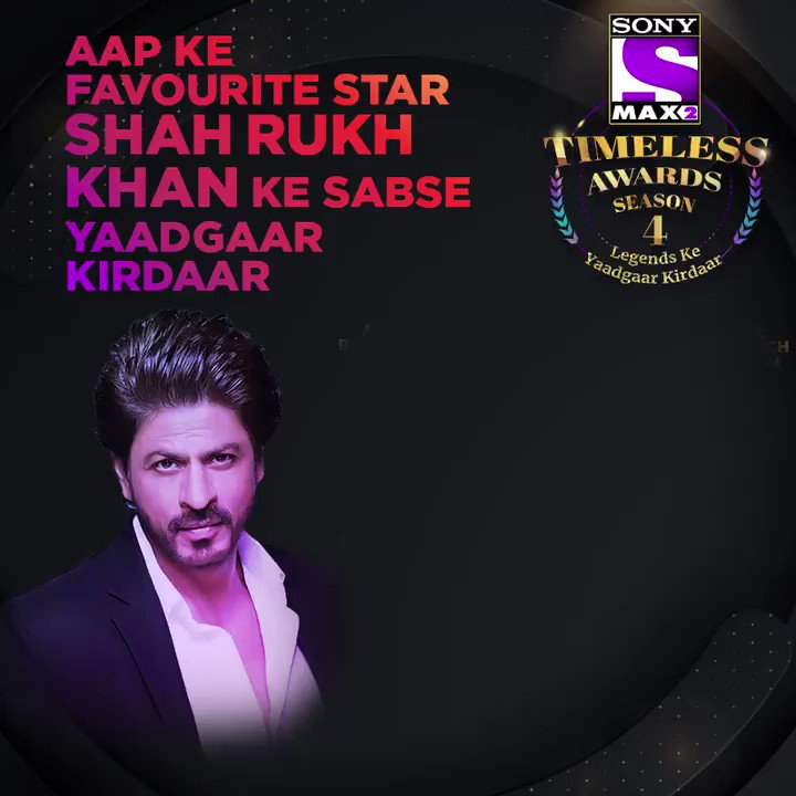 Which character of King Khan won your heart?  Vote now http://bit.ly/MAX2TimelessAwardsS4 … Voting lines open till 27th Feb.  Win* an Android phone by voting for every male legend and stand a chance to win* an iPhone 11 Pro by voting in all four categories.  #MAX2TimelessAwardsS4