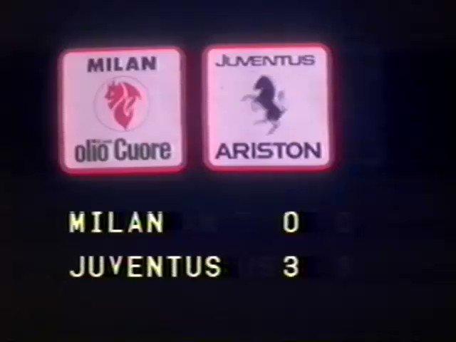 #AccaddeOggi Il 19/2/1984, nella stagione del double 21° #scudetto e #CoppaCoppe, la #Juventus seppellisce il @acmilan a #SSiro con una tripletta firmata @PablitoRossi, Michel #Platini, e Beniamino #Vignola. Servizio completo di interviste qui: https://youtu.be/0rdbC08x4zI @juventusfc