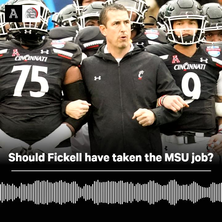 """🎙4 to 6 with A&B   Did former #OhioState coach Luke Fickell make the wrong choice to turn down #MichiganState?   """"Fickell could have fit in well for a long period of time and it would have made sense for him career wise"""" - @AriWasserman  Full Episode 🎧: http://listen.theathletic.com/4to6?sid=t-o-h"""