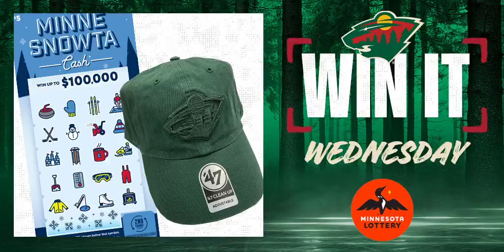 🎊 Say I'MN to #WinItWednesday. 🎊  RT for a chance to win a #mnwild hat, $50 in @mnlottery scratch 🎟 and more!  Rules: