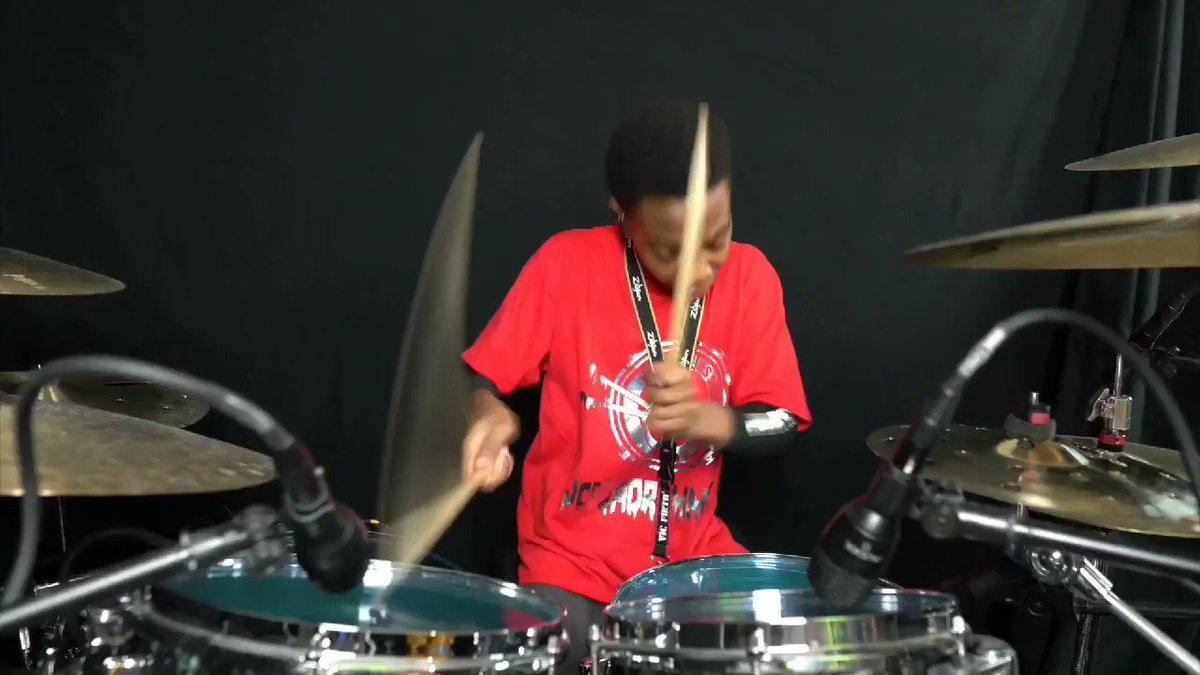 This kid is amazing 12 year old @Jcgdadrummer @drumdots @vicfirth @ZildjianCompany @drummagrocks @DrumGuruApp @Drummerszone @Groovru @modern_drummer @PlanetDrum #humpdayvibes #TrendingNow #ViralVideos, @Timbaland