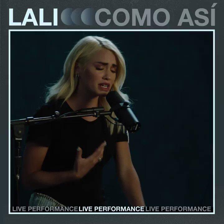 Replying to @lalioficial: #ComoAsi Acoustic version @SomosVevo