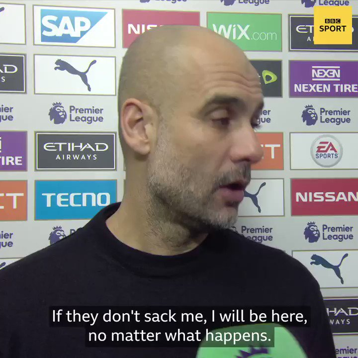 Pep Guardiola is going nowhere ❌Read more from the Manchester City boss: https://bbc.in/2vRl4SM