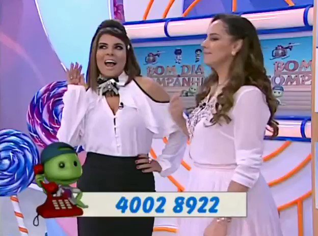Mara Maravilha apresentando o #BomDiaECia por favor, @fpelegio , faz acontecer! 🙏🏽
