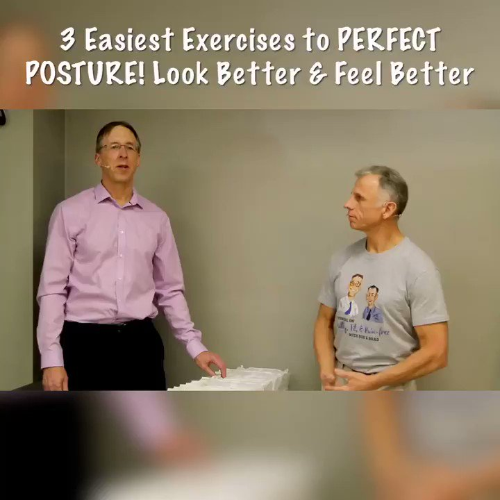 Here are the 3 easiest exercises for perfect posture! As always click the link on our homepage to see the full video! #BobandBrad  #FamousPT  #healthy  #fit  #painfree  #physicalTherapy  #fitness  #posture  #backpain  #neckpain  #perfectposture