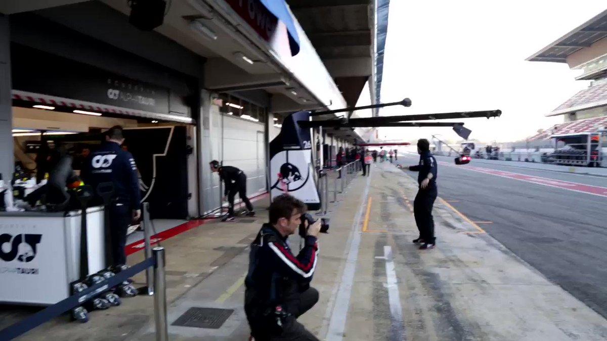 The clock strikes 09:00 and @PierreGASLY begins his 2020 F1 season 💪   #AlphaTauri #F1
