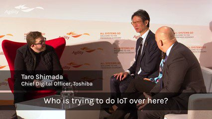 Image for the Tweet beginning: Toshiba's Chief Digital Officer shares