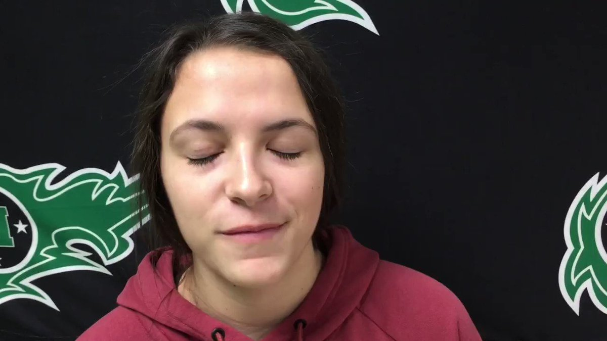Junior guard @rileycosimi went 5 of 7 behind the3⃣point line (17 pts overall) last night leading the @MHSGirlsBBall1 to a tournament win over Ursuline. She talked with digital reporter Jaxon Orlando about her hot shooting & an upcoming match up with Loveland.   @sammyconnors41