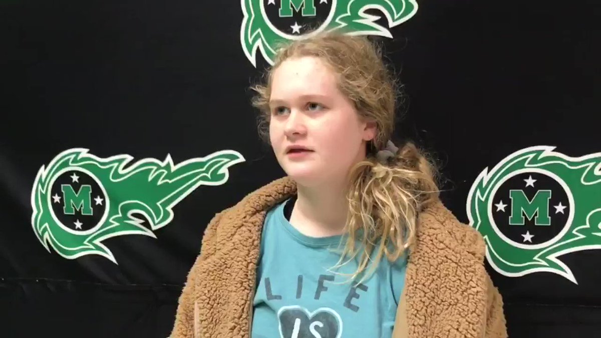State Bound @CometsSwimDive Langley Petersen is a state qualifier as a freshman, she spoke to digital reporters/producers Ashlyn Gigliotti & Peyton Flynn about this opportunity to represent @CometsSwimDive at the state meet this weekend.