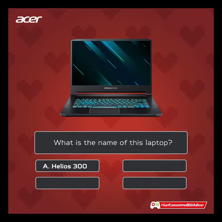 #ContestAlert  Here's the mega prize contest. Take a screenshot when the right answer flashes on the screen, post the screenshot in the comments & stand a chance to win an exciting gift.  Hint: Visit https://acer.co/2P4HO8Y   to know which laptop this is. Don't forget to register!