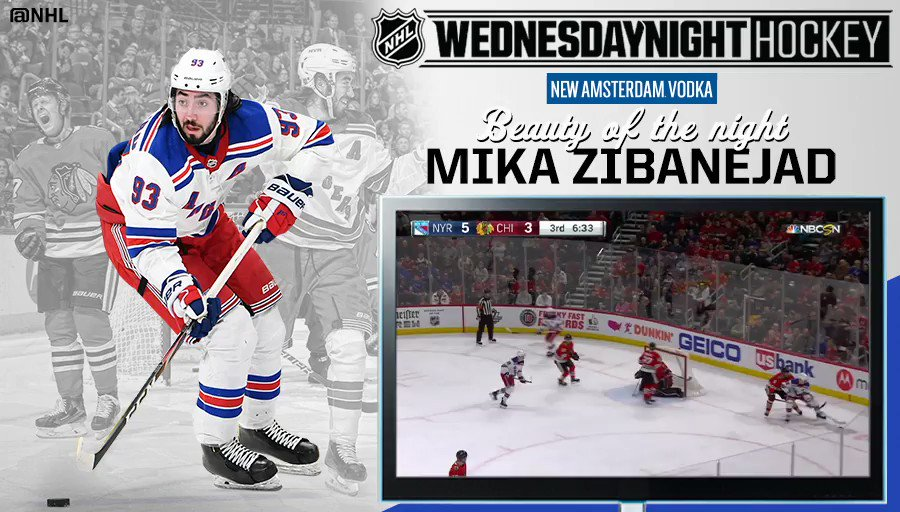 Four points in a big @NYRangers win earns @MikaZibanejad Beauty of the Night honors. 👏 #WNH