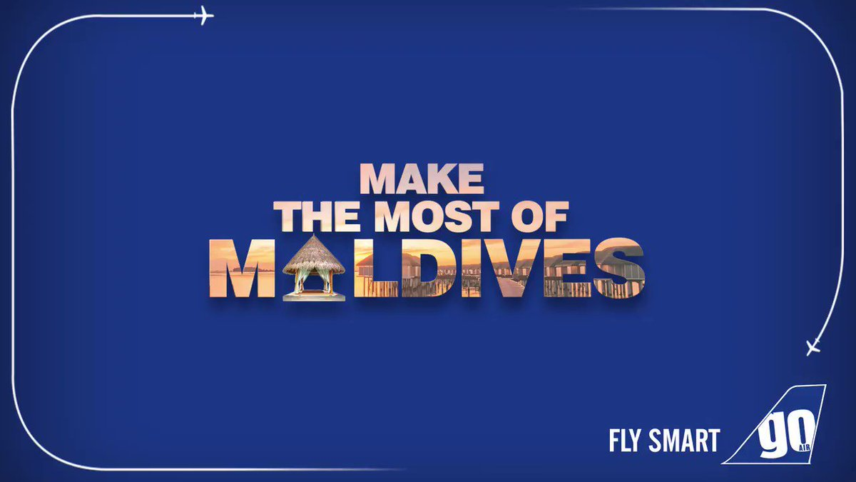 Weekend getaway? Shell yeah! 🌊✈Look no more! Fly Smart with our non-stop flights to Malé, #Maldives from #Mumbai, #Delhi, and #Bengaluru!Book now- http://bit.ly/2P93kJG