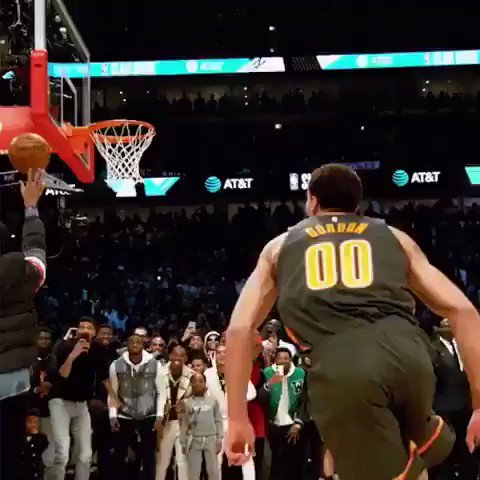 Retour sur la performance de Aaron Gordon au ralenti 💪 @Double0AG #nba #NBAAllStar2020 #NBASlamDunkContest #ATTSlamDunk