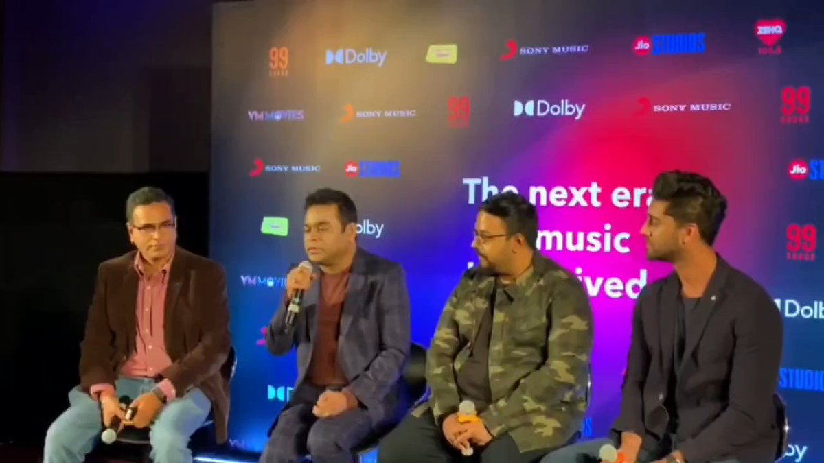 .@arrahman on pushing the creative ante with '99 Songs,' the musical drama he produced and co-wrote with @scribecore frontman @vishweshk, at the music launch for the film