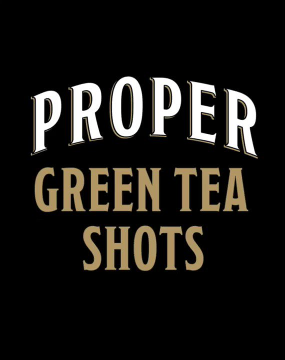 Start getting in the green spirit with our Proper Green Tea Shots #OneForAll