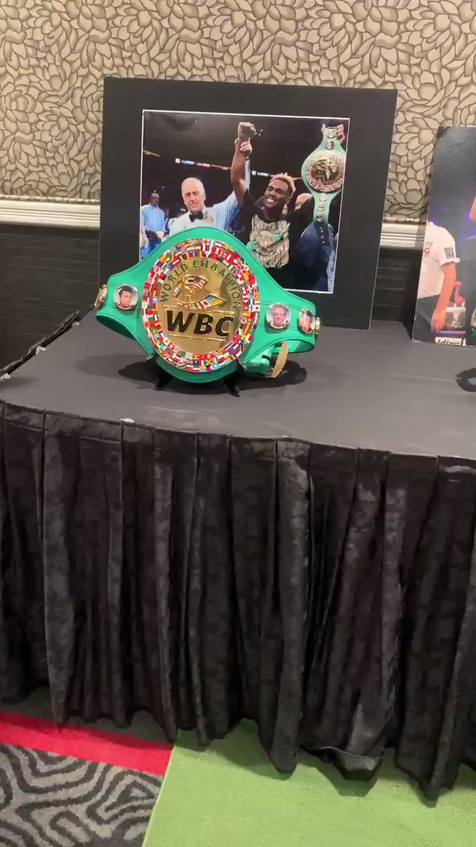 All of the belts. All of em. @WBCBoxing 💥🥊