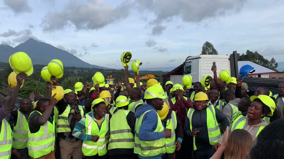 1/ So exciting to have the team out at the site for our future Ellen DeGeneres campus and to see all the progress being made.  One of the best parts was being thanked through song and dance by the local community members who have been hired as part of the construction workforce.