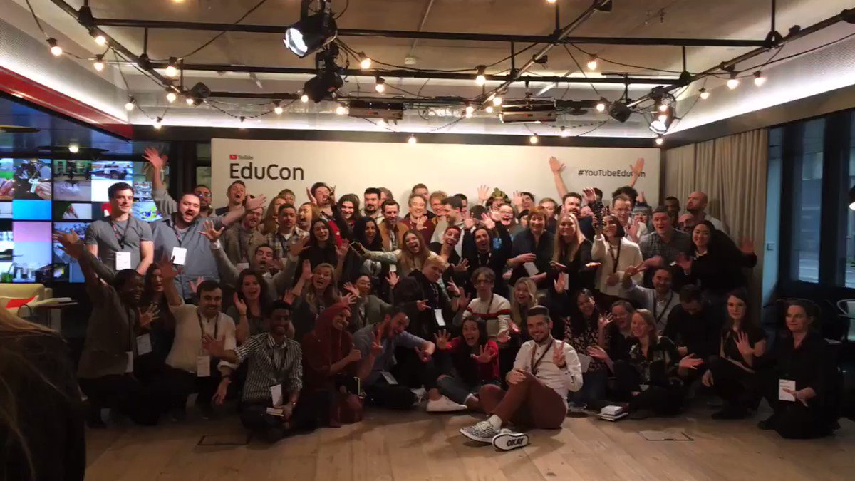 Here's to the EduTubers who make #EduCon the great day that it is! 💫  Same time, same place next year?