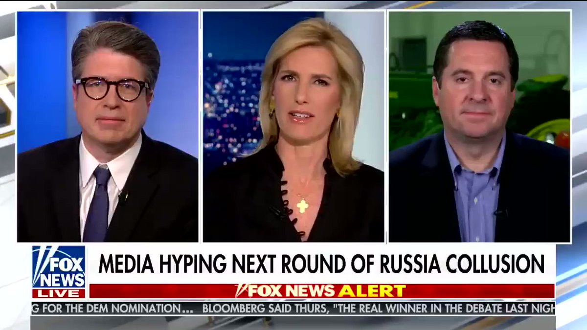 Devin Nunes appears on Fox News to downplay today's Russia news by talking about naked pictures of Trump
