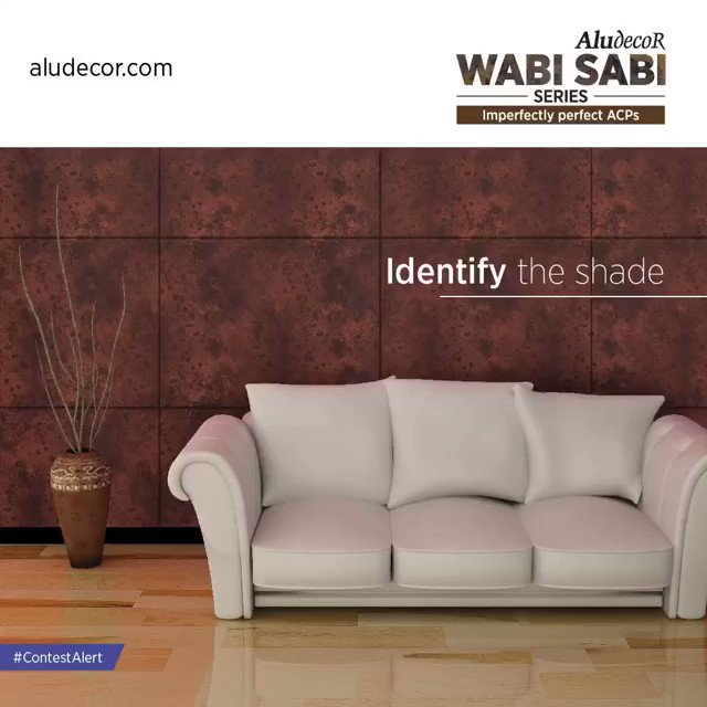 Participate in Aludecor #IdentifyTheShade #Contest and you could win exciting prizes from #Aludecor.  Simply leave your answer in the comment box below and tag your friends as well.  Winners will be selected through a lucky draw. Hint: Visit our website 'http://wabisabi.aludecor.com'.