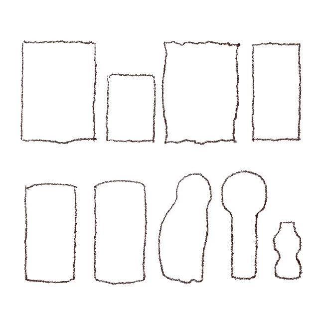 何か描いてみたいけど何を描いていいかよくわからないときは、好きなパッケージデザインをそのまま模写するのが手っ取り早く簡単で楽しいです。コツは面積の大きい色から塗り始めることですね。お菓子とかCDジャケットとか本の表紙などシルエットが単純なものがおすすめです。