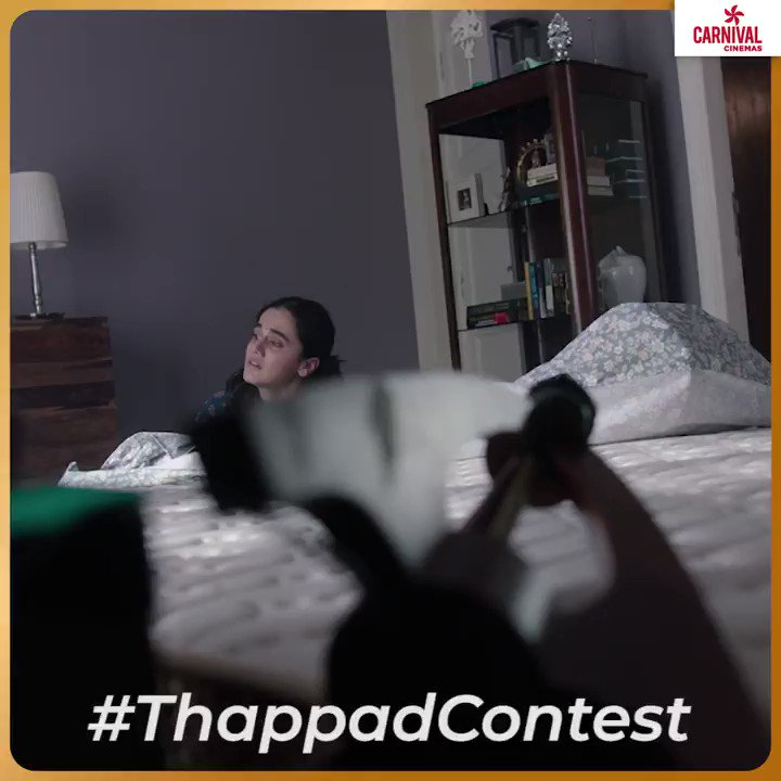 Hello Contest Lovers, here is your chance to win  Complete the dialogue along with the hashtags and tag your friends   #CarnivalCinemas #ApnaCarnival @taapsee  @deespeak @TSeries @BenarasMedia #India #Delhi #Mumbai #DelhiContest #MumbaiContest #ThappadContest