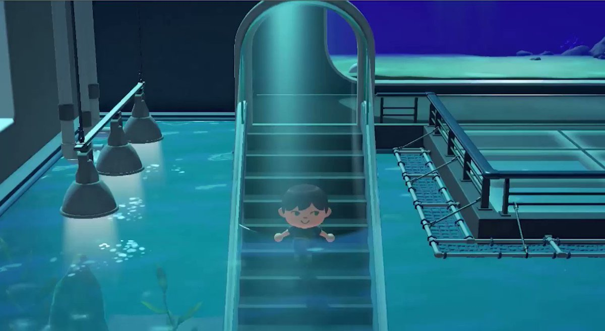 🆕水槽トンネルがすごい!🆕水槽のトンネルの中を歩くこともできます!まるで海の中!綺麗~!!#あつまれどうぶつの森 #あつ森