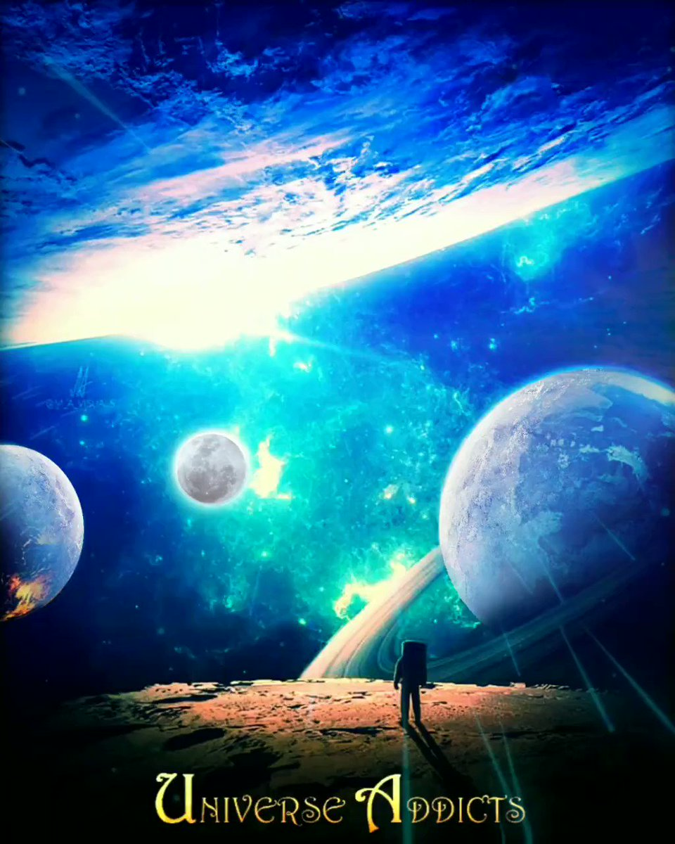 ◄◄Sigue nuestra página►►, un video nuevo cada día que te encantará ! #universeaddicts • • • #moon #sky #space #planets #nebula #stars #northernlights #universe #fantasy #SURREALISM  #colors #blue #turquoise #editing #motion #animation #digitalart #image #video #gif