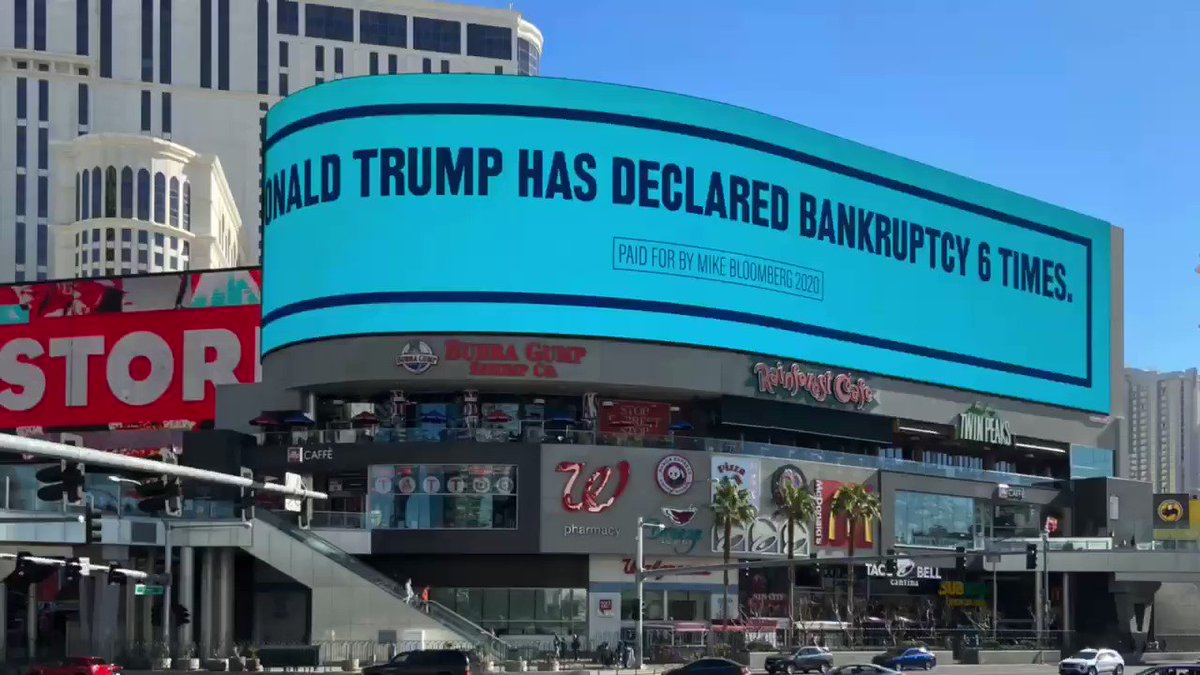 Bloomberg's massive Vegas Strip ad campaign is impossible to miss