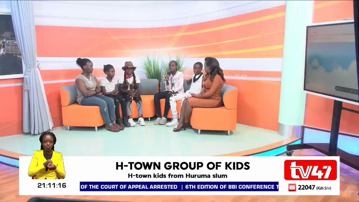 "tv47 Kenya on Twitter: ""H-Town kids a group of children from ..."