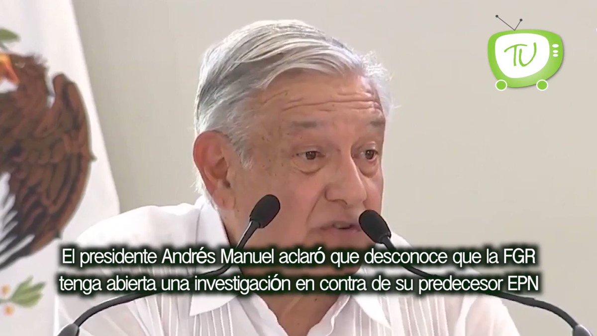 Desconoce @lopezobrador_  investigación a #PeñaNieto