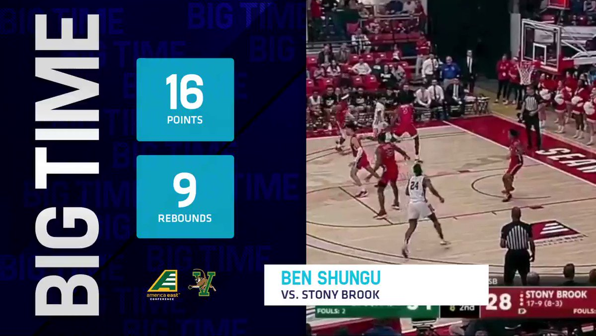 The fans have voted @UVMmbb's Ben Shungu as the top #AEHoops performer from Thursday!