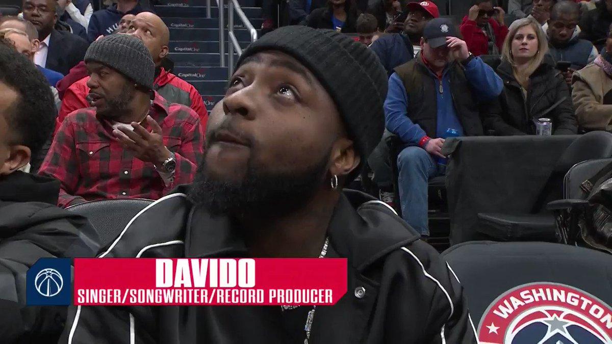 Davido checking out tonight's game! #RepTheDistrict   @davido