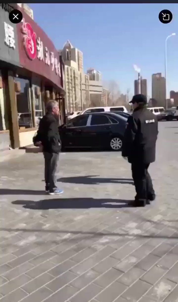 Beijing, likes other cities in China, the final result in the video if anyone doesn't wear a mask.
