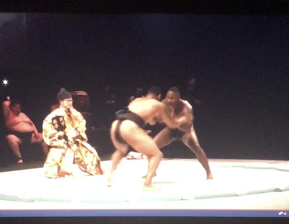 Watch Curtis Blaydes beat 'Rumble' Johnson ... in a sumo wrestling match