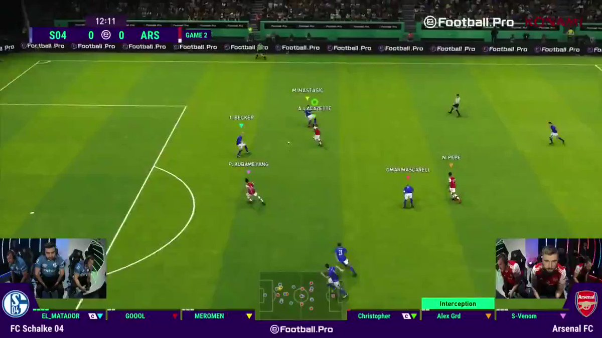 Finally! 😅😅  The first goal of this Match up comes at the start of Game 2 for @arsenal v @s04_esports!  Watch the last 30 'in-game' minutes of #Matchday5 🙌  📹 https://youtu.be/EZBsfW43Vac 📽 http://Facebook.com/PES  #eFootballPro