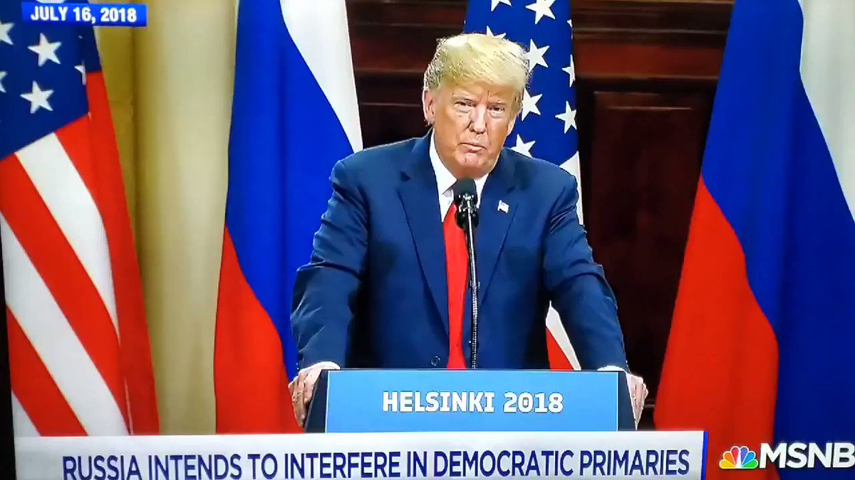 I'm old enough to remember Helsinki when trump sided with Putin over our Intel agencies, and moments later, Putin ADMITTED he directed his officials to interfere.  Almost 2 years later, we STILL don't have election security.  #TrumpIsARussianAsset