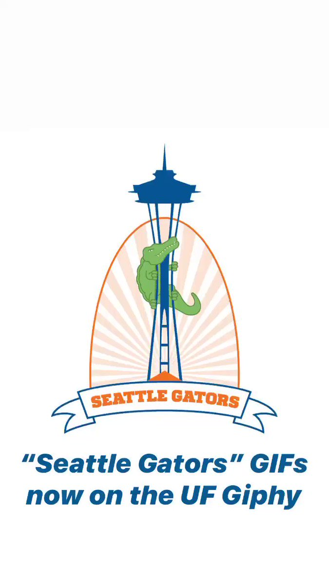 Heads up @seattlegators, we've added some GIFs just for you! #GatorNationIsEverywhere —> giphy.com/uf