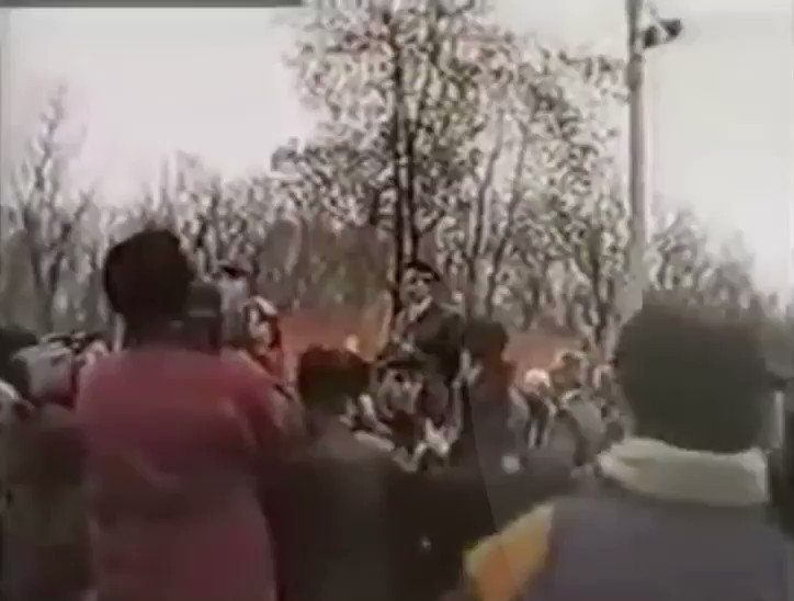"""""""..любые народы отличающиеся духовностью, нравственностью, культурой и историей не были угодны имперскому злу и насилию""""  Джохар Дудаев выступает в Грозном, в годовщину насильственной депортации чеченцев и ингушей. #23Февраля pic.twitter.com/Syu4ZtHzCI"""