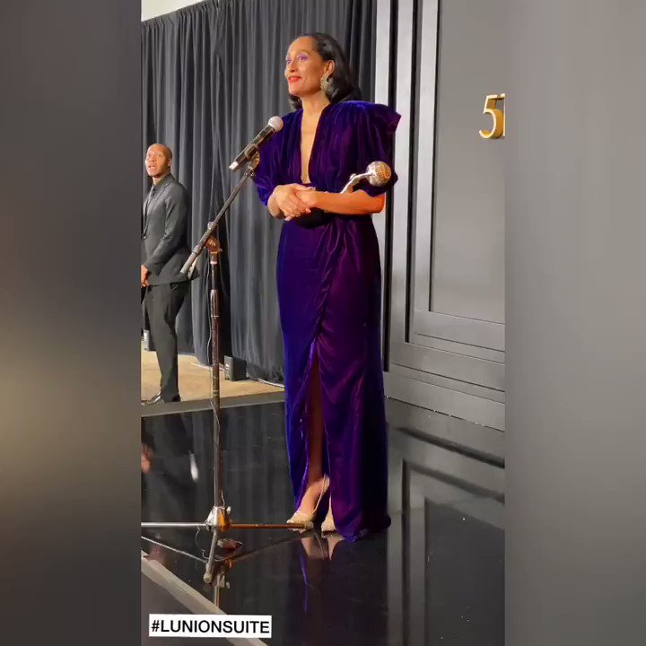 """""""I love being apartof this ever-growing chorus ofblack women owning our ownlegacies."""" Tracee Ellis Ross wins #NAACPImageAwards for  best actress in a comedy #blackish"""