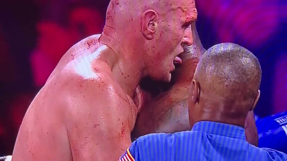 Tyson Fury really licked Wilder's blood. 😳